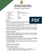 FISI-Silabo Investigaciòn Operativa II 2016