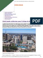 African History – Histoire Africaine [Defi] Quelle Architecture Pour l'Afrique de Demain