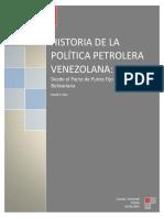 Historia de la Política Petrolera Venezolana - Daniel E. Páez (2015)