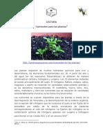 Apart. 7 Nutrientes Para Las Plantas. Lectura 1