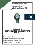 Coeficiente de Conductividad Termica
