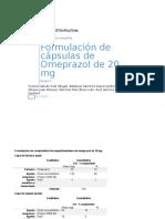 Formulación de Cápsulas de Indometacina de 60 Mg