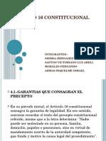 Articulo 16 Constitucional Equipo Tres