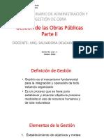 Gestion de Las Obras Publicas 2015 II Modif