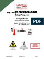Syringe Heater User Manual