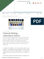 Teste de Fehling - Laboratório Online - FCiências
