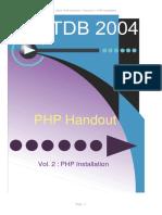 ATDB 2004 - Vol 2 - PHP Installation