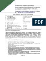 2011 University Programme Specifications