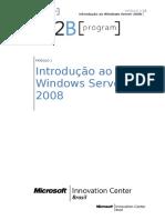 MODULO 1 - Introdu+º+úo ao Windows Server 2008
