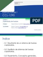 Operatoria Con Fuerzas, Clase 1