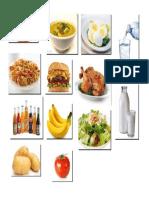 Alimentos en Ingles