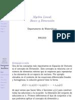 Ma3002 Bases y Dimension