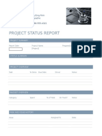project status report form  1