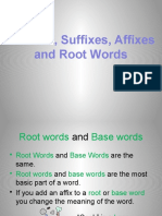 Introduce Prefixes Suffixes Roots PowerPoint