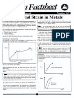 Stress and Strain in Metals