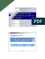 Representacion de Los Parametros de Un SEP en PU