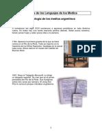 Cronologia Medios en Argentina