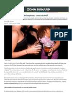 ¿Por Qué Un Menor de Edad Empieza a Tomar Alcohol