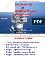 Fundamentals of Petroleum Project management
