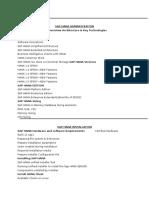 Sap Hana Administration - Course Content
