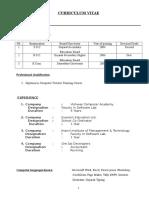 Resume Format for Computer Teacher