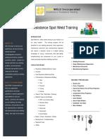 Resistance Spot Weld Training Brochure