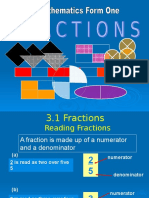 3 Fractions Form 1