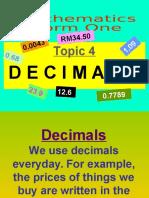 4 Decimals form 1