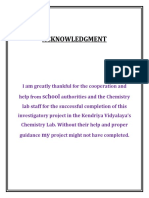 Investigatory Project - Chemistry Class XII