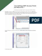 Bagaimana Cara Setting WiFi Access Point Di Routerboard MikroTik