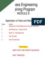 Mod 8-Application of Heat and Mass Balances