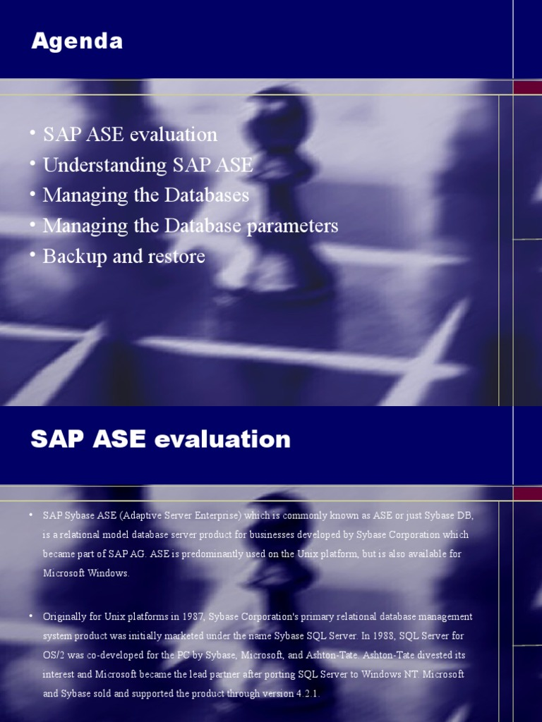 Sybase Ase Databases Areas Of Computer Science