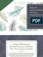 Apresentação de Artigo sobre a Bacia do Rio São Franscico