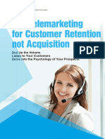 Telemarketing for Customer Retention