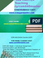 COM 440 MASTER Teaching Effectively /Com440master.com