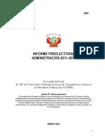 Informe PreElectoral 2011 2016