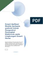 Smart Aplikasi Mobile Berbasis Android Untuk Pengontrol Perangkat Elektronis Pada Lingkungan Smart Home