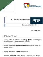 3.1 Desplazamientos Virtuales I