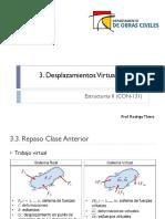 3.2 Desplazamientos Virtuales II
