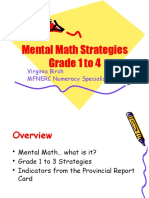 Mental Math Gr 1 4 Copy
