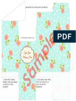 Printable Gift Boxes Roses Sample