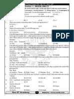 Scholar Ship Entrance Exam 2016 Sample Paper 7th Std