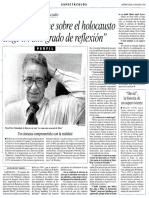 Peter Lilienthal habla sobre 'La lista de Schindler' (La Vanguardia, 1994)