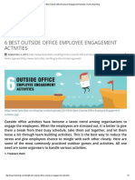 6 Best Outside Office Employee Engagement Activities _ FastCollab _ Blog