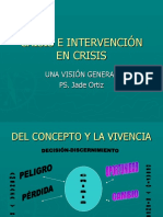 Crisis e Intervención en Crisis