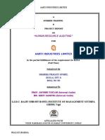 Project Report Aarti Vapi
