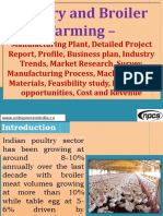 Poultry and Broiler Farming - Manufacturing Plant, Detailed Project Report, Profile, Business plan, Industry Trends, Market research, survey, Manufacturing Process, Machinery, Raw Materials, Feasibility study, Investment opportunities, Cost and Revenue