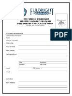 2016 DIKTI Fulbright Master Application Form