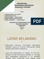 Presentasi Kabupaten Sintang-1