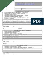 FORM. RH014 V.00 CHECK-LIST DE INTEGRAÇÃO